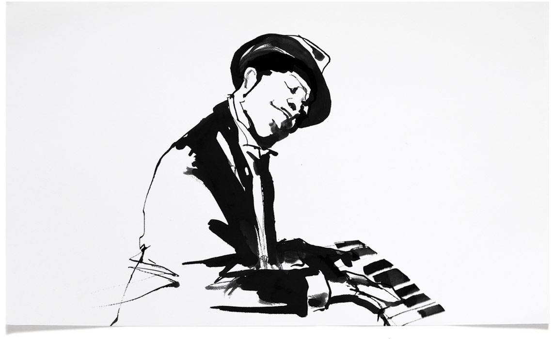 Jazz illustrations eri griffin pen ink portrait drawings