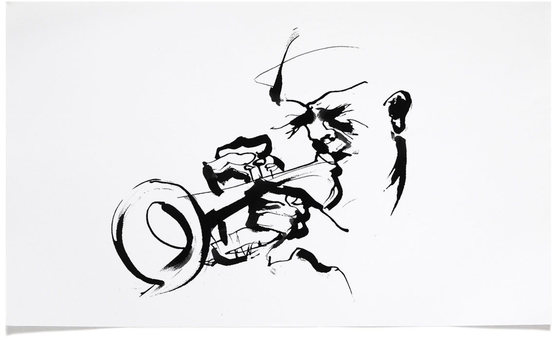 Jazz Book Illustrations - Ink Illustration by Eri Griffin