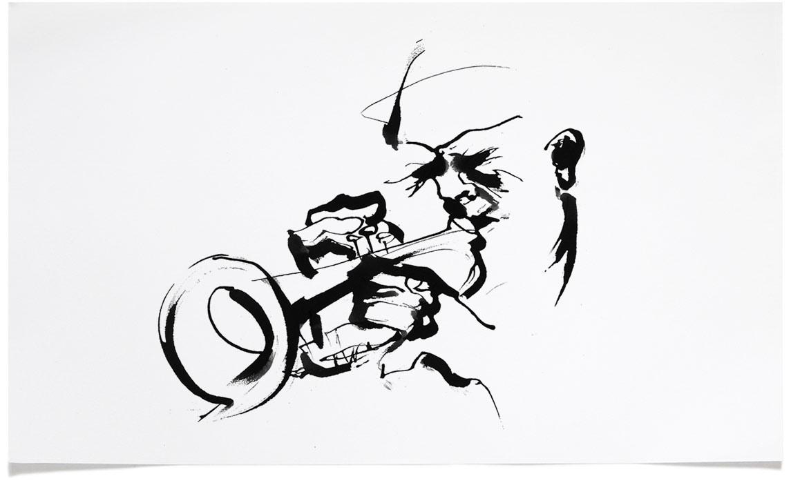 Jazz Book Illustrations - Ink Illustration by Eri Griffin