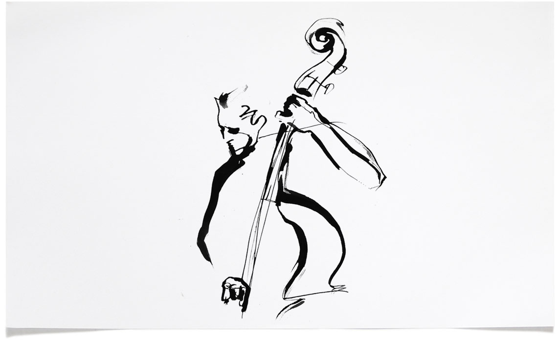 Jazz Illustrations - Tattoo Ink Illustration by Eri Griffin