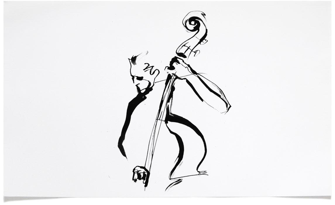 Jazz Illustrations - Tattoo Ink Illustration by Eri Griffin