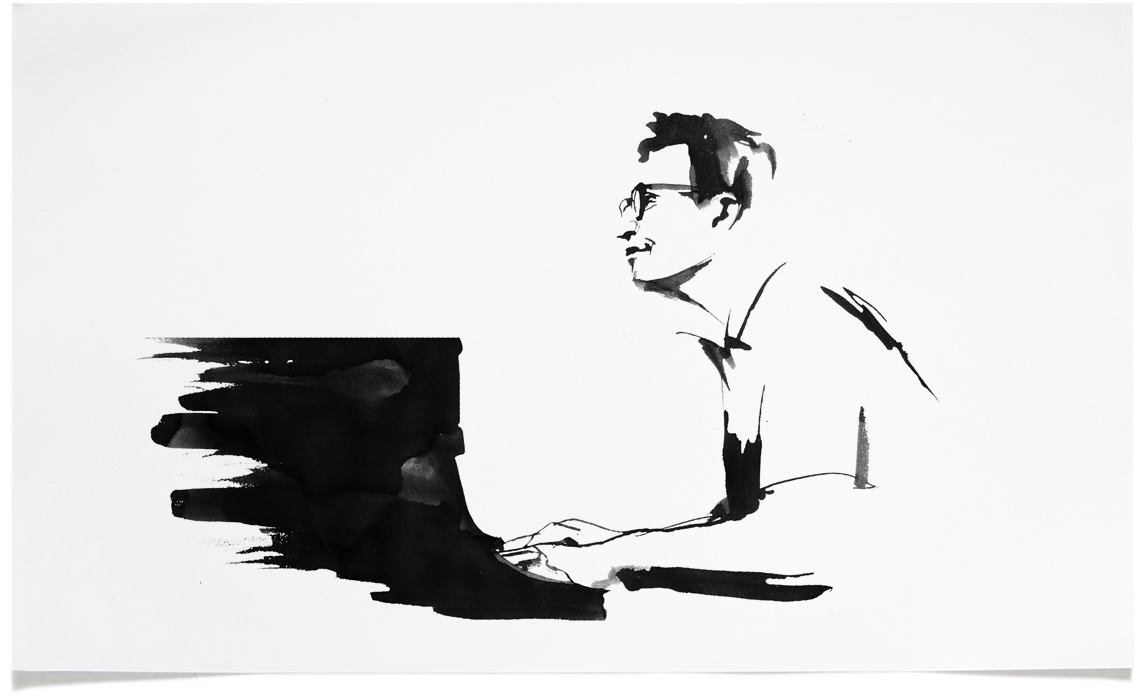Dave Brubeck -  Jazz Illustrations - Music CD Cover Illustration by Eri Griffin