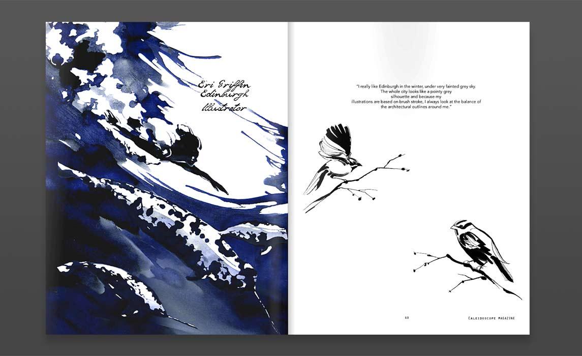 Art and Fashion - Latest magazine Illustrations - Ink Illustration by Eri Griffin