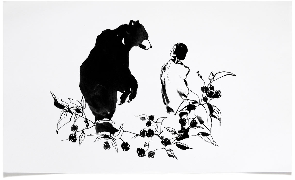 A woman who married to a bear