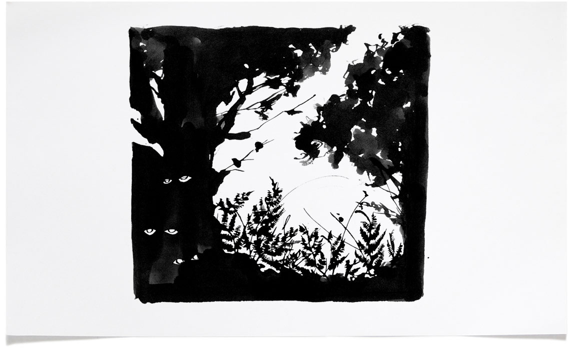 Tales from the Forest - Book Illustrations - Ink Illustration by Eri Griffin