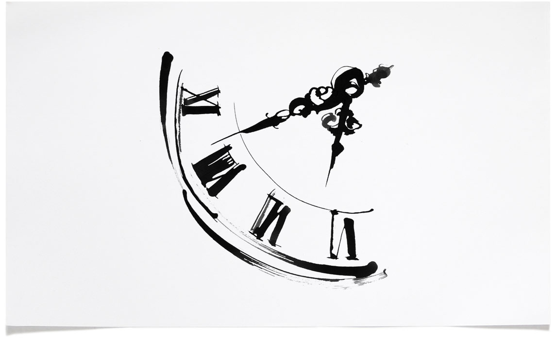 Old Clock - Book Illustrations - Ink Illustration by Eri Griffin