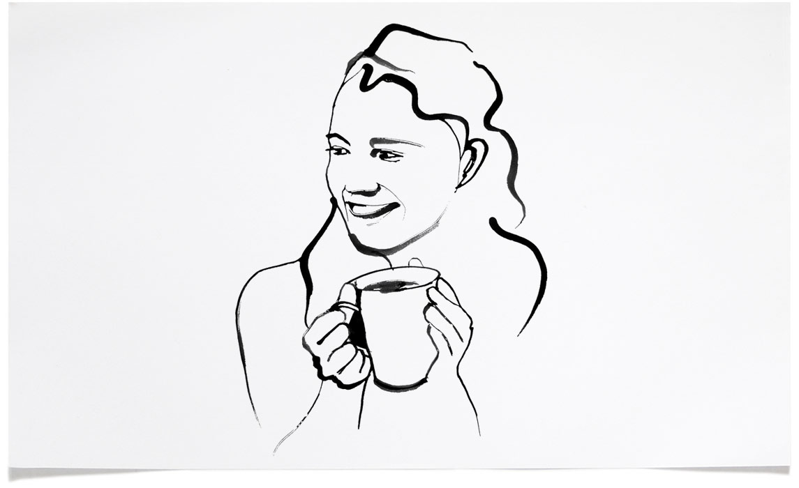 Coffee - Food and Wine Illustrations - Ink Illustration by Eri Griffin