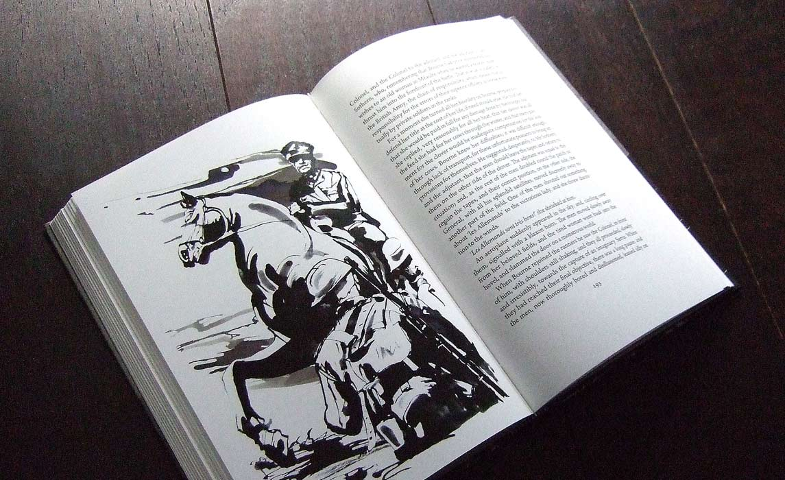 War Novel - Latest Book Illustrations - Ink Illustration by Eri Griffin