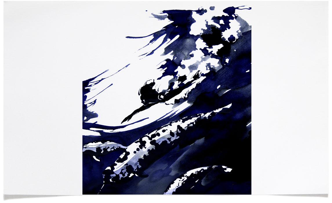 Martin Cooper - Portrait Illustrations - Ink Illustration by Eri Griffin