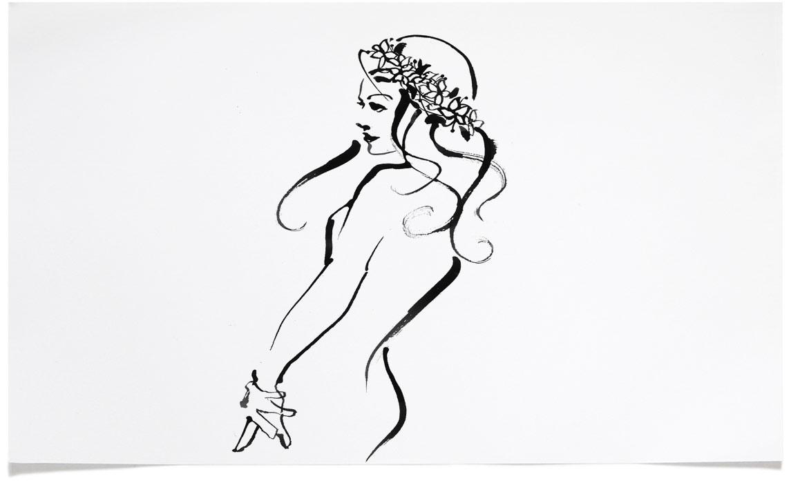 Portrait Illustrations - Ink Illustration by Eri Griffin