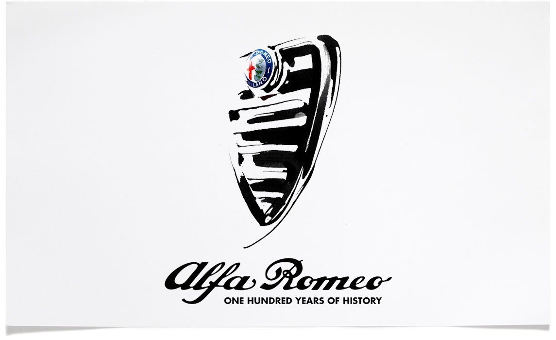 Alfa Romeo - Sports Illustrations - Ink Illustration by Eri Griffin