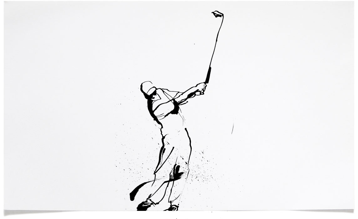 Golf - Sports Illustrations - Ink Illustration by Eri Griffin